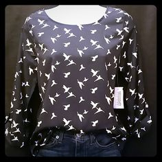 Selling this Necessary Clothing Bird Design Blouse in my Poshmark closet! My username is: dreamcatcher088. #shopmycloset #poshmark #fashion #shopping #style #forsale #Necessary Clothing #Tops