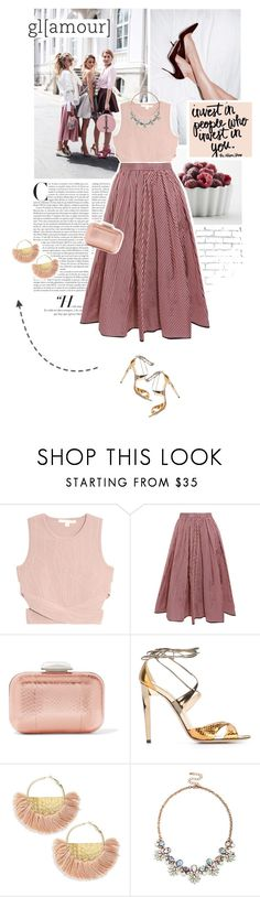 """""""mauve candy."""" by eve-angermayer ❤ liked on Polyvore featuring GET LOST, WALL, Jonathan Simkhai, Tome, Jimmy Choo, Jardin and Sole Society"""