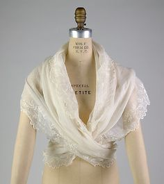 Fichu. French. Cotton, ca. 1793 - I'd wear it