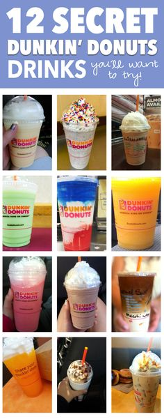 You'll probably agree with me when I say: Dunkin Donuts is always a go-to for a good coffee and a quick bite. The only problem I've had with Dunkin Donut. Duncan Donuts, Donut Recipes, Coffee Recipes, Copycat Recipes, Cake Recipes, Dunkin Donuts Menu, Starbucks Secret Menu Drinks, Secret Menu Items, Coffee Drinks