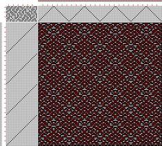 Drawdown Image: Page 145, Figure 1, Donat, Franz Large Book of Textile Patterns, 13S, 26T