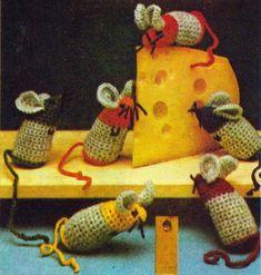 Půl tuctu myšek – NÁVODY NA HÁČKOVÁNÍ Burlap, Reusable Tote Bags, Hessian Fabric, Jute