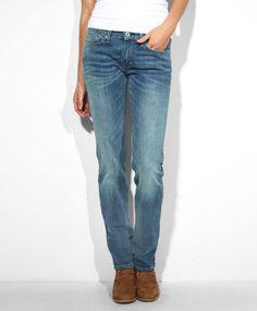 Levi's Modern Rise Slight Curve Straight Jeans - True Love Blue - Slight Curve