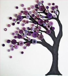 DIY Button Art Tree Buttons have always featured in my life - from my Grandma's . DIY Button Art Tree Buttons have always featured in my life - from my Grandma's . DIY Button Art Tree Buttons have always featured in my life - from. Crafts For Seniors, Crafts To Do, Crafts For Kids, Paper Crafts, Craft Ideas For Adults, Craft Ideas For The Home, Senior Crafts, Art Projects For Adults, Arts And Crafts For Adults