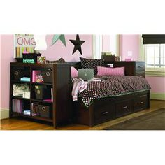 White Full Size Daybed Legacy Olivia With Bookcase And Trundle Daybeds Bedroom Pinterest Furniture