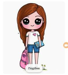 cute girl postavy cute drawings, kawaii and kawaii - cute girl cartoon sketch Cute Wolf Drawings, Kawaii Girl Drawings, Cute Girl Drawing, Cartoon Girl Drawing, Girl Cartoon, Cartoon Wolf, Cartoon Ideas, Drawing Drawing, Draw So Cute Girl