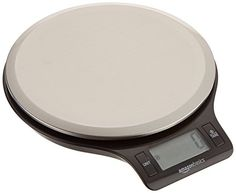 Digital kitchen scale with widescreen LCD screen;Weighs up to 11 pounds (about 5000 grams) of food;Advanced sensor technology delivers quick, accurate responses;Displays results in ounces, grams, pounds, or kilograms;Tare button subtracts container weight to zero out the scale so you only...