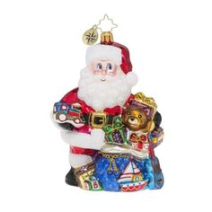 Christopher Radko Treasure for Tots Santa Claus and Toys Christmas Ornament