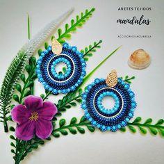 Bead Earrings, Crochet Earrings, Artistic Wire, S Mo, Peyote Stitch, Brick Stitch, Glass Beads, Jewelry Making, Embroidery