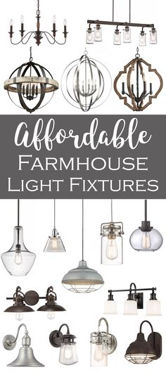 Upgrade the lights in your house while saving money and shopping the largest onl. Upgrade the lights in your house while saving money and shopping the largest online selection. Farmhouse Light Fixtures, Farmhouse Lighting, Kitchen Lighting, Farmhouse Design, Farmhouse Decor, Modern Farmhouse, Industrial Farmhouse, Home Renovation, Home Remodeling