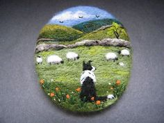 Handmade-needle-felted-brooch-Gift-Gwen-in-May-Meadow-by-Tracey-Dunn