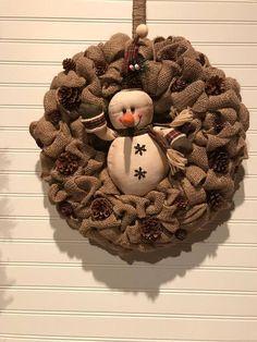 Winter Burlap Wreath Christmas Burlap Wreath Burlap Wreath