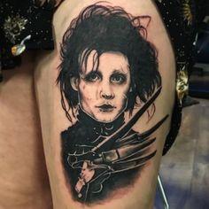 @seannewmantattoo Movie Tattoos, Johnny Depp Movies, Fear And Loathing, The Lone Ranger, Edward Scissorhands, Tim Burton, Alice In Wonderland, Pop Culture, Ink