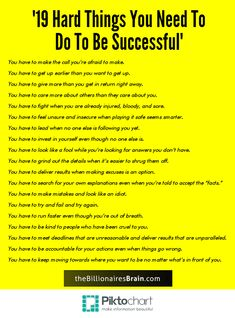 19 Hard Things Your Need to Do to Be Successful