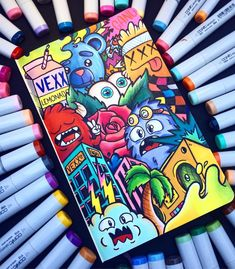 drawings doodle marker vexx drawing doodles graffiti challenge sketches easy markers kind kinda coloring sketch finished desenhos want dibujos colorful