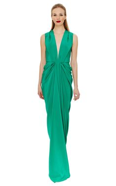 Plunge Front Gown by Thakoon