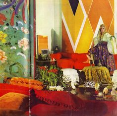 Inspirational Interiors: Jane Holzer. Photographed by Horst. Scanned by Miss Peelpants from Vogue, March 1970