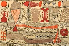 Pictograph with fish : Marina Strocchi Kunst Der Aborigines, Inspiration Artistique, Aboriginal Artists, Fish Art, Embroidery Art, Pattern Art, Textile Art, Painting & Drawing, Printmaking