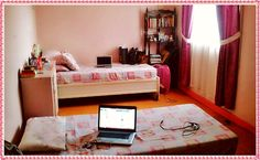 The Pink Room. :)  Just got done cleaning our room (after almost 4hrs :D). Now I can proudly say that I have a very productive Saturday! Lol :D