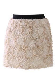 3D Flower Mini Bud Skirt//