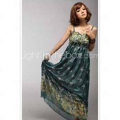 Bohemian Tube Chiffon Strap Dress(S=105cm,M=115cm) - US$ 17.99