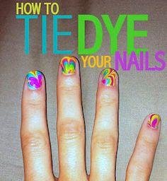 Tie dye nails DIY SO COOL!!!