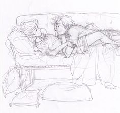 [the mortal instruments] Art by Burdge bug. ~ Wish I knew who they are.<<Jace and Clary, no doubt. Couple Sketch, Couple Drawings, Love Drawings, Couple Art, Drawing Sketches, Art Drawings, Percabeth, The Mortal Instruments Art, Illustration