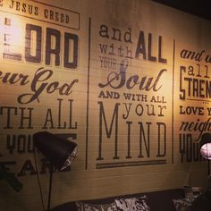 Wall art at the Journey Church cafe