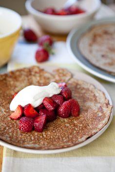 Yogurt Crepes with Berries and Yogurt Whipped Cream
