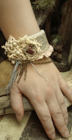 Lost in Time -Mixed Media Cuff Bracelet by Altered Alchemy. I would so wear this if I had the $$