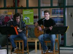 UW-FDL Students perform during an open mic session during a free hour in the University Center Commons (2012).