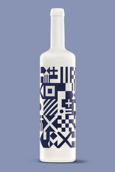 """seafaring flags on bottle - The design of this 'Albariño' (white wine) is born from the sea. Oloramar comes from sailor spirit, from nautical tradition, from traditional Sargadelos pottery, from smell and taste of a magical land, Galicia, in Spain. Its name is made from the words """"olor a mar"""" that means smell of sea."""""""