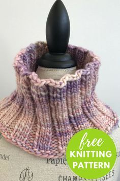 Easy one skein knitting project with hand dyed Manos Franca yarn Gentle Ribs Cowl Free Knitting Pattern. Easy one skein knitting project with hand dyed Manos Franca yarn Easy Knitting Projects, Knitting Blogs, Easy Knitting Patterns, Knitting Socks, Free Knitting, Knitting Ideas, Simple Knitting, Finger Knitting, Scarf Patterns