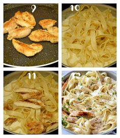 chicken alfredo The best,quick and easy chicken alfredo you need to try! This is under chicken alfredo recipe to fix lunch/dinner in few easy easy chicken alfredo recipe is Best Alfredo Recipe, Alfredo Sauce Recipe Easy, Chicken Fettuccine, Fettuccine Alfredo, Chicken Pasta, Homemade Chicken Alfredo Sauce, Grilled Peach Salad, Chicken Recipes, Cooking Recipes