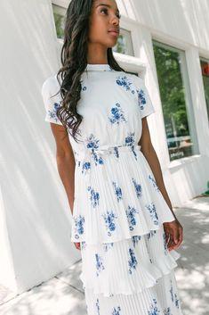 Vintage 70s Periwinkle Blue Flirty Chiffon Wedding Guest Party Dress  Women/'s Size Large  L  Free US Shipping