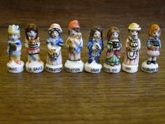 Vintage French FEVES porcelain glazed . 8 by FrenchMelody on Etsy