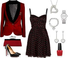 """Valentine's Party"" by ealkhaldi ❤ liked on Polyvore"
