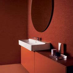 Atelier Collections is bathroom brand Ideal Standard's seminal range of minimalist sanitaryware created by Italian designer Roberto Palomba. Washbasin Design, Italian Furniture Brands, Ideal Standard, Long Sofa, Brass Pendant Light, Curved Sofa, Cafe Chairs, Dezeen, Furniture Manufacturers