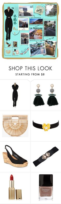 """Part of Day 5 Positano"" by deborah-518 ❤ liked on Polyvore featuring Catherine Malandrino, Cult Gaia, Kenneth Jay Lane, Style & Co., L'Oréal Paris, Butter London and Gucci"