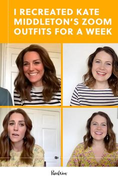 Who's the queen of Zoom? Based on her fashion alone, Kate Middleton has crushed video calls during the pandemic. Here, how to replicate her looks. #kate #middleton #outfits Knot Bun, Yellow Floral Dress, Power Colors, Zoom Call, Messy Hairstyles, British Royals, Duchess Of Cambridge, Fashion Advice, Daily Inspiration