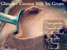 chocolate coconut milk ice cream