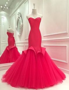Charming Rosy Prom Dress,Sexy Sweetheart Evening Dress,Sexy Open Back Lace Up Prom Dress