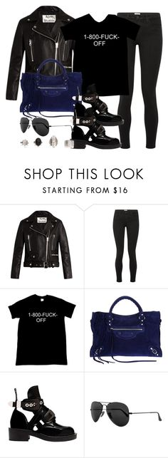 """Sin título #13713"" by vany-alvarado ❤ liked on Polyvore featuring Acne Studios, L'Agence, Balenciaga and Ray-Ban"