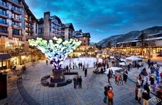 Solaris Plaza in Winter - Vail Living