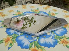Antique French Art Deco Display Mirror. by AngelFrenchAntiques