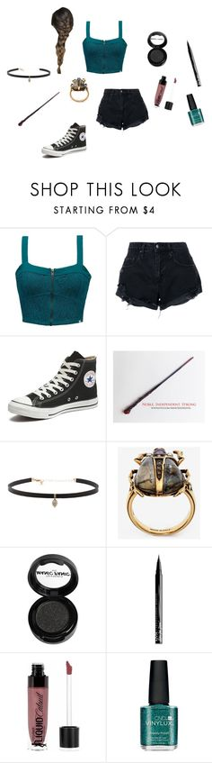 """Bailey -the world cup-"" by megpegachu on Polyvore featuring Element, Nobody Denim, Converse, Carbon & Hyde, Alexander McQueen, Manic Panic NYC, NYX, Wet n Wild and CND"