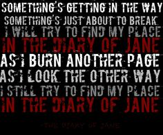Diary of Jane    Breaking Benjamin