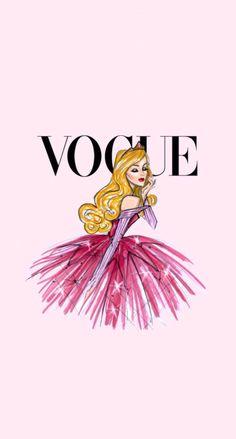 Vogue Disney iPhone wallpaper - Aurore