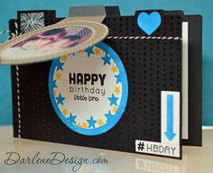 Photo Birthday Card (front lifted) by darlenedesign - Cards and Paper Crafts at Splitcoaststampers