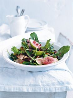 Fig haloumi pomegranate salad